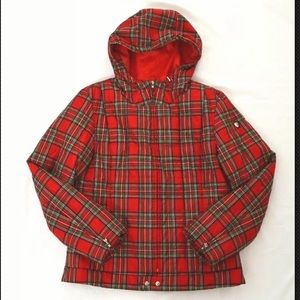 Polo Ralph Lauren quilted jacket plaid red woman l